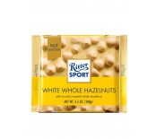 RITTER SPORT WHITE WHOLE HAZELNUTS CHOCOLATE 100G