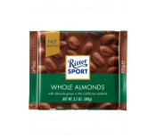 RITTER WHOLE ALMONDS CHOCOLATE 100G